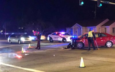 Car accident shuts down intersection between Second South and Second West