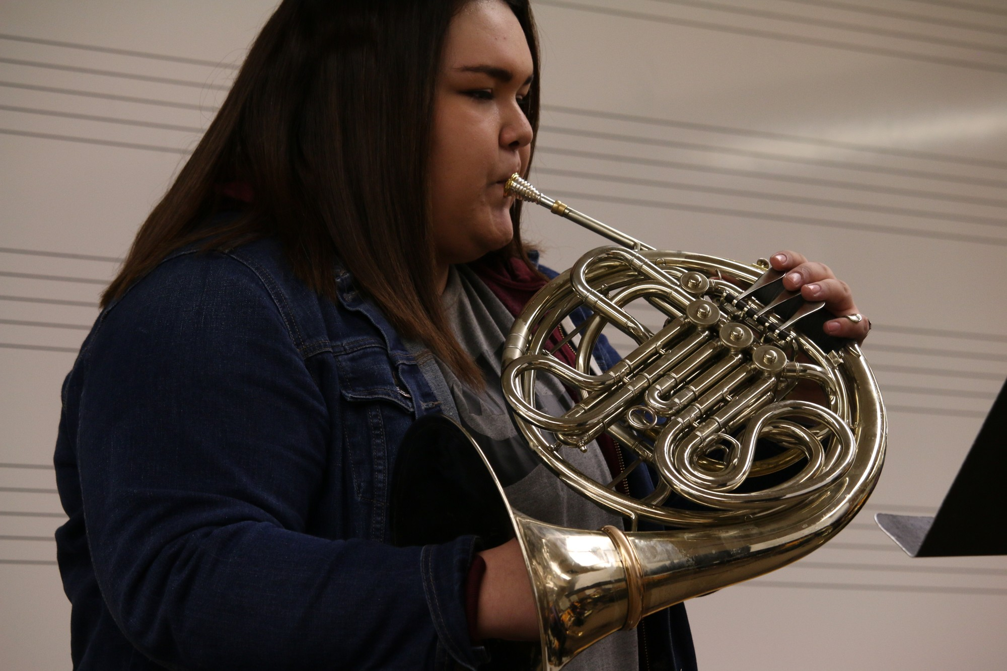 Students of Rexburg: French horn player - BYU-I Scroll