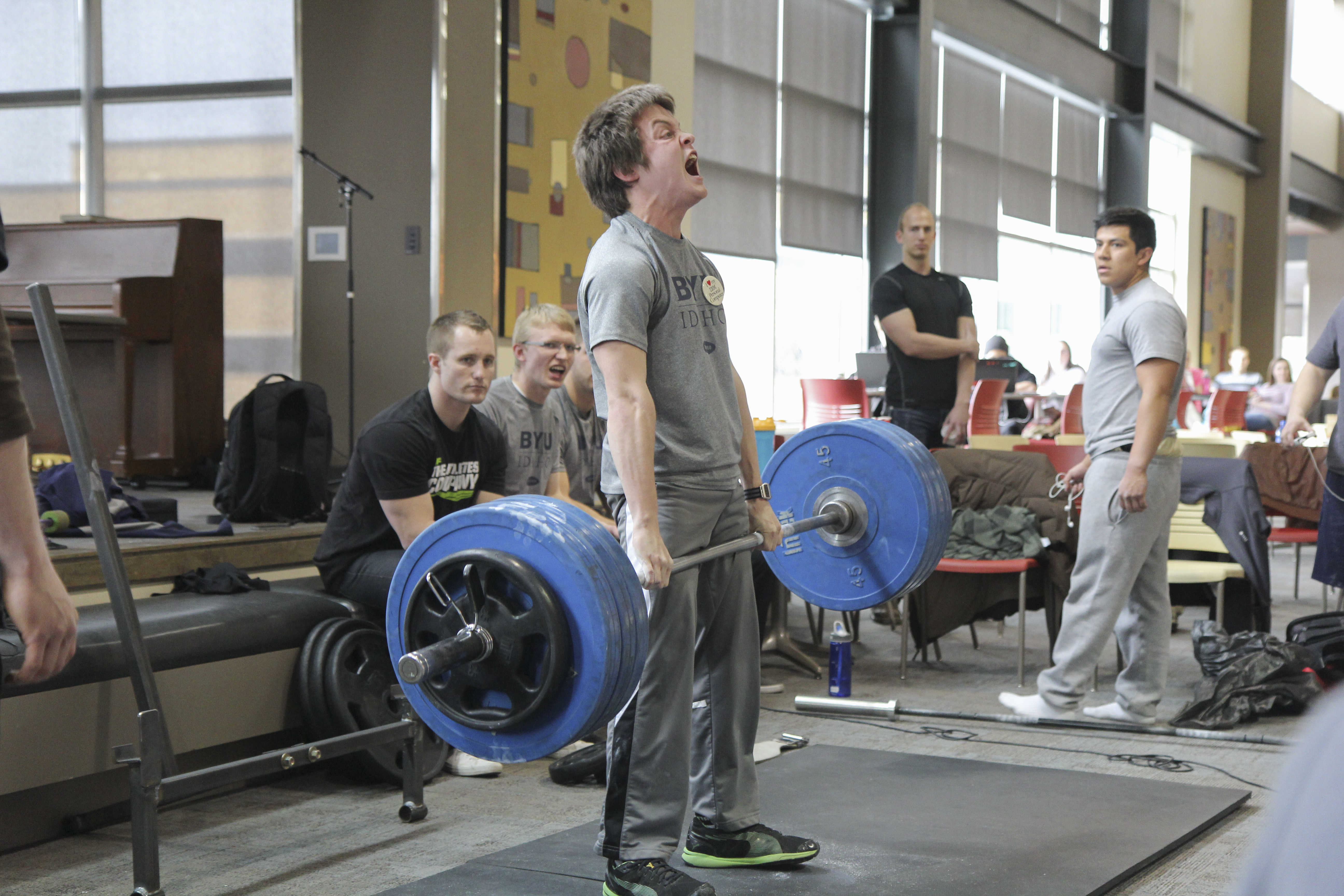 Deadlift contest held by Wellness Activities - BYU-I Scroll