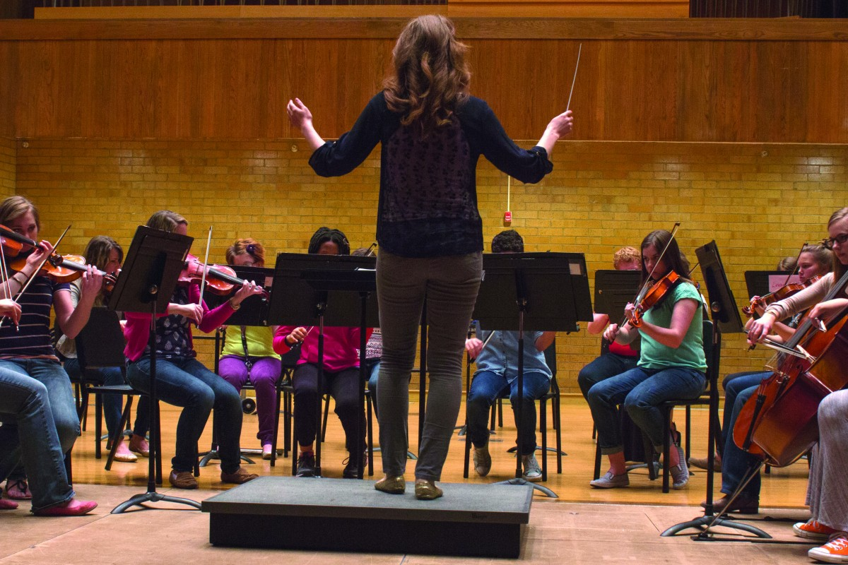 Orchestra performs students' original work
