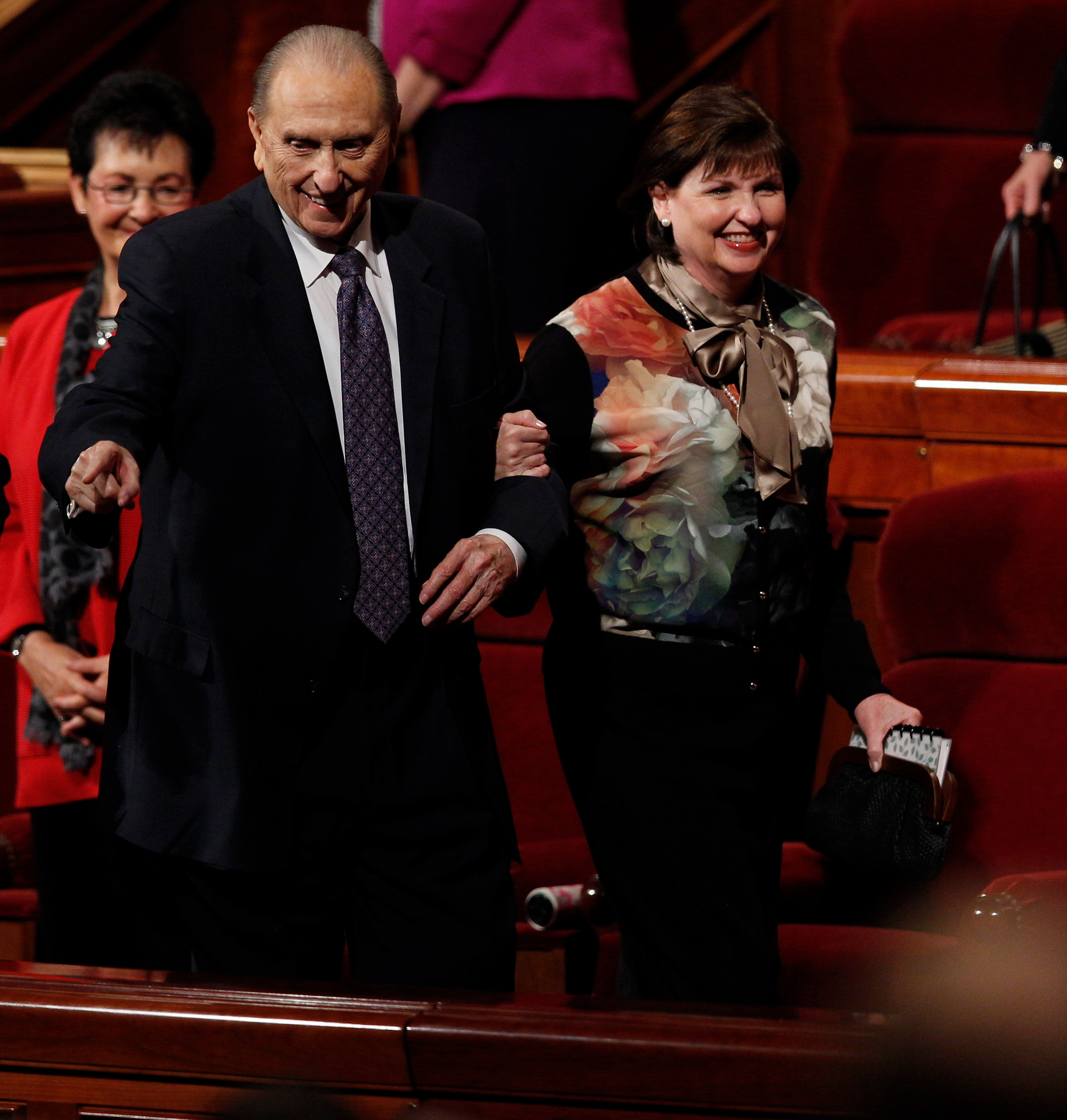 """""""May we ever choose the harder right instead of the easier wrong,"""" President Monson said at April 2016 general conference."""