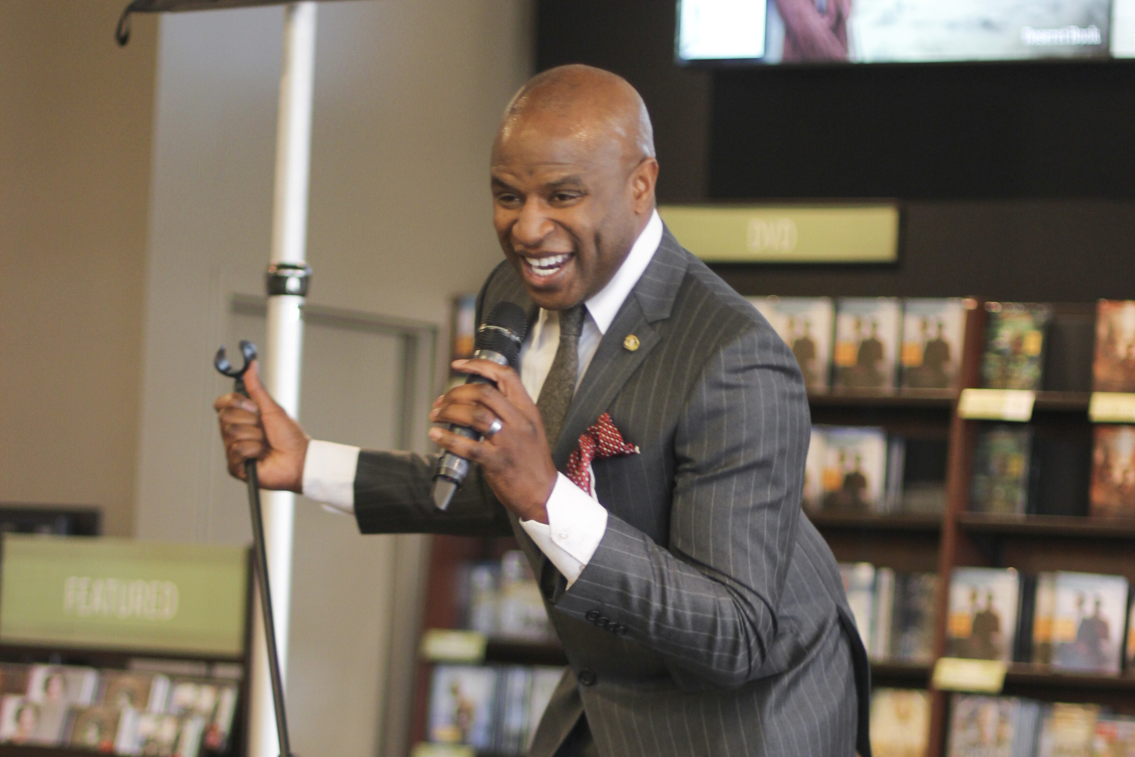 Alex Boye and others perform at Deseret Book in Salt Lake City