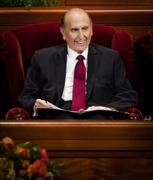"""""""Never let a problem to be solved become more important than a person to be loved,"""" President Monson said in Oct. 2008 general conference."""