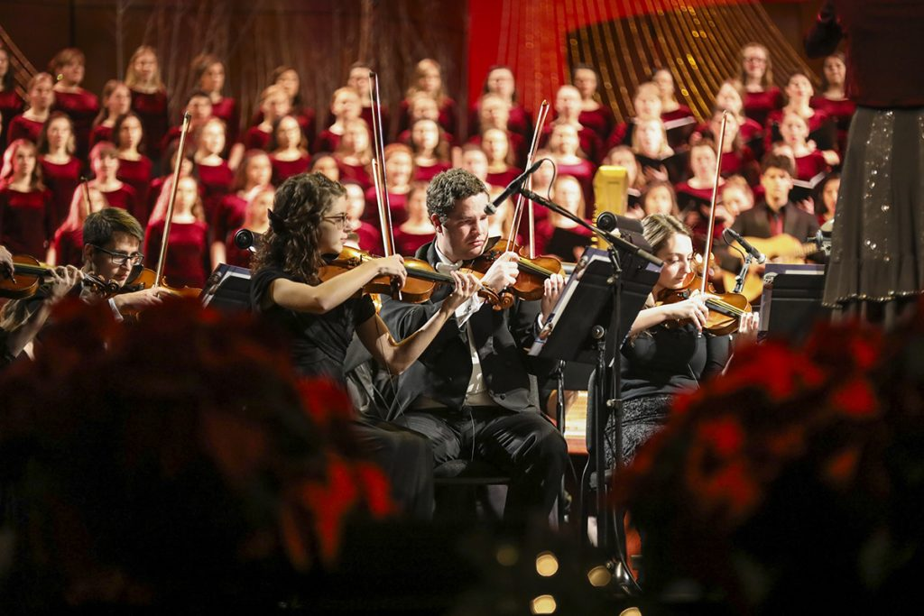David Archuleta, Nathan Pacheco, chior and symphony orchestra perform their Christmas concert at BYU-I.