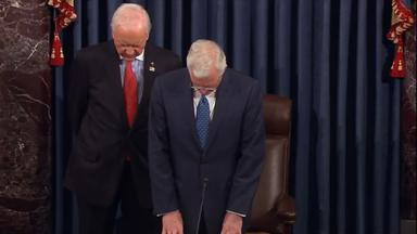 Elder Christofferson offers prayer during U.S. Senate session