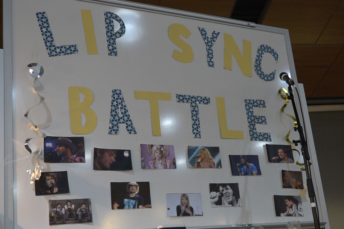 Students go head-to-head in lip sync battle
