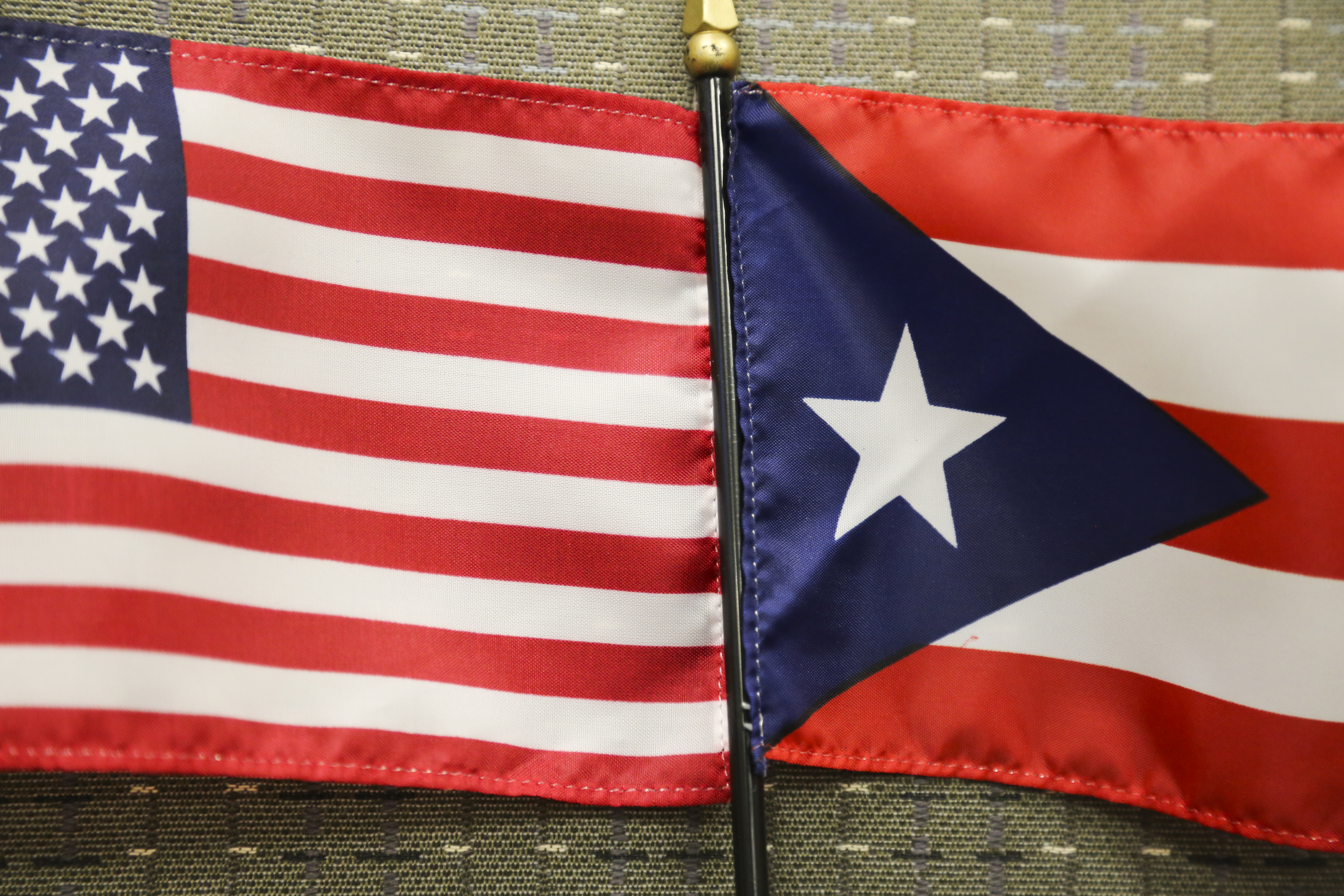 photo of the U.S. flag and the Puerto Rican Flag