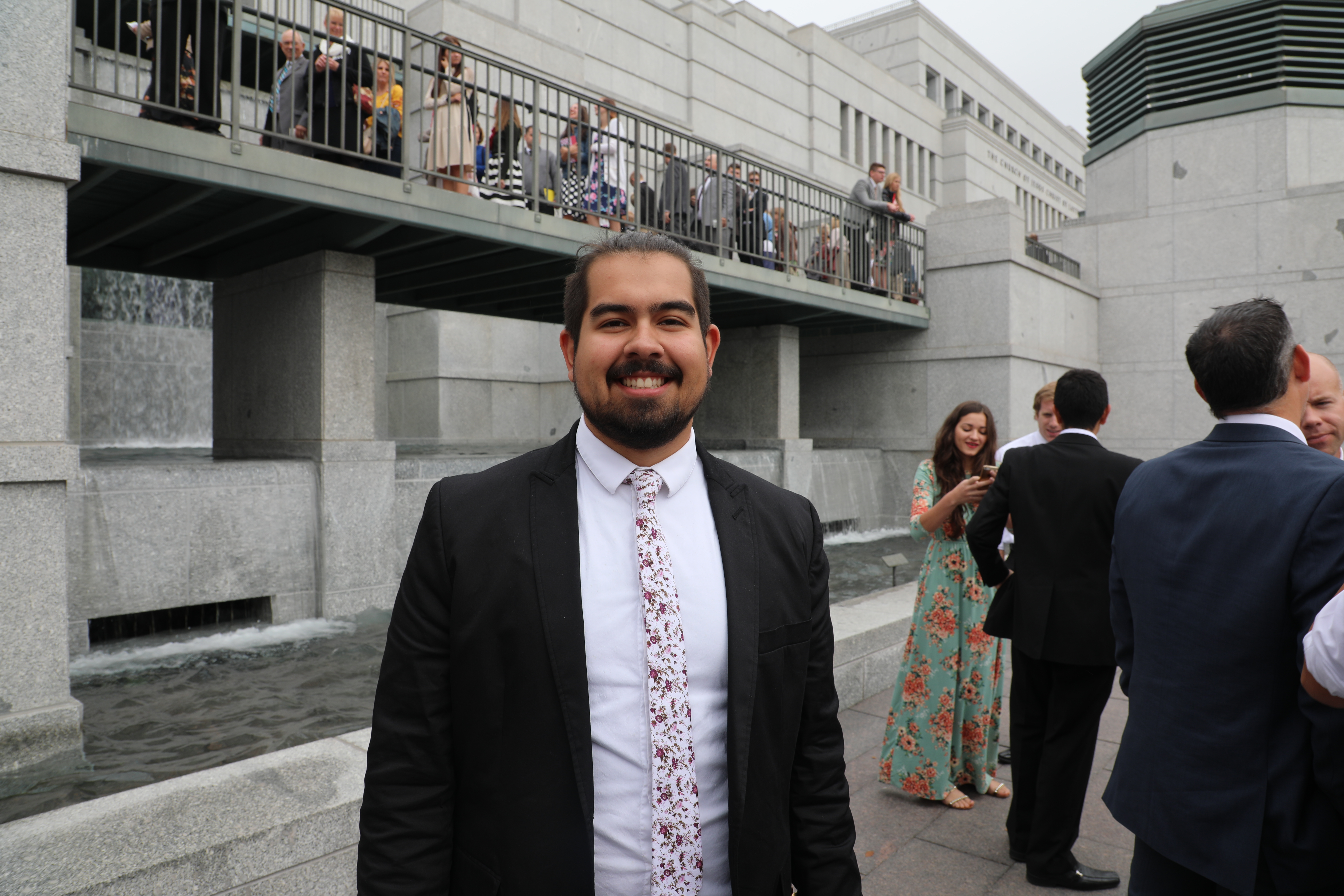 """""""This is my second time here. When I first came I wasn't a member of the Church. I have just recently been baptized on July 15th…Being here as a member, it kind of ups the experience just as a whole.""""- Gabriel Martinez, Arizona"""