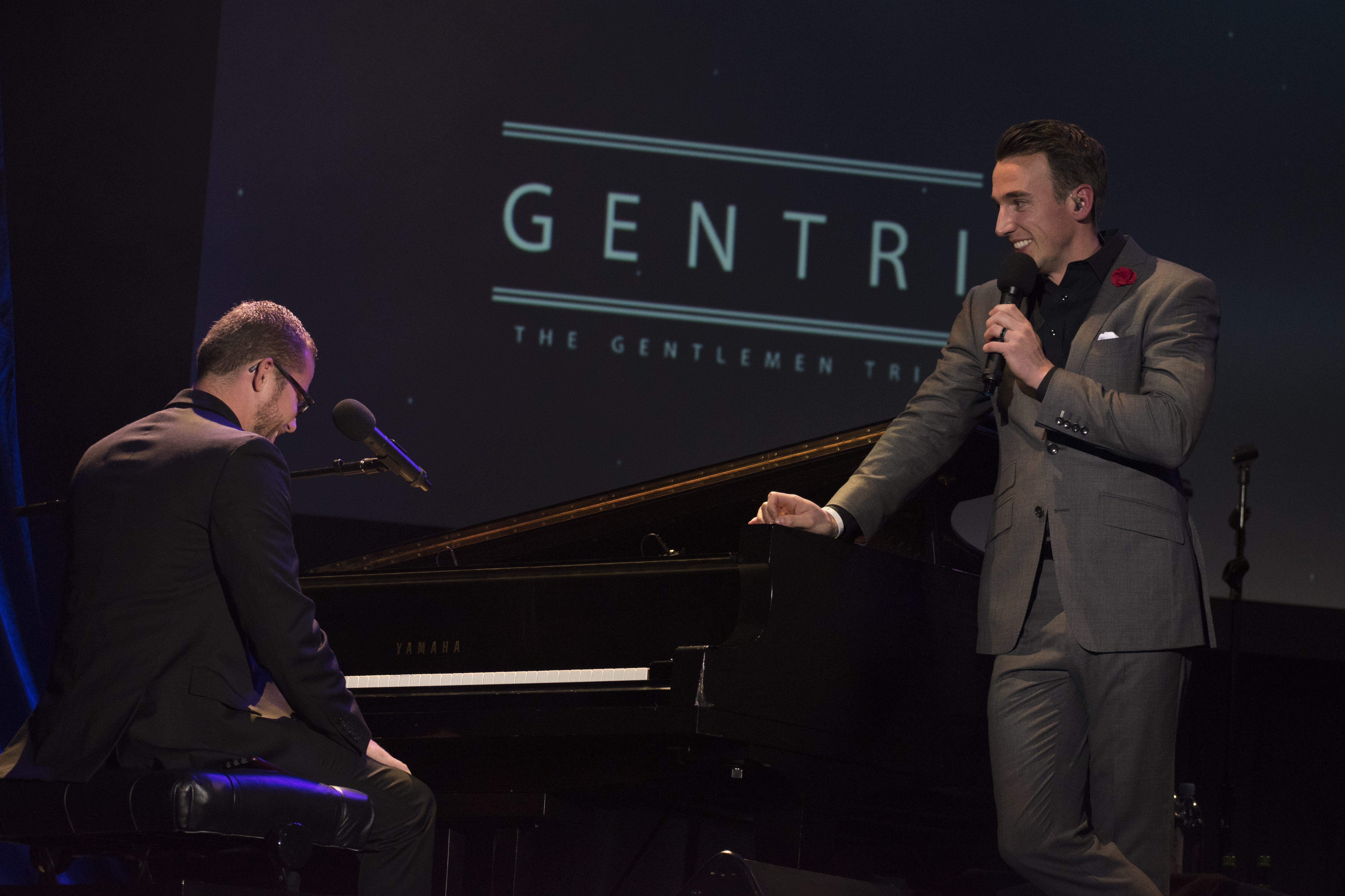 Gentri performs in the Hart Auditorium on Friday, October 13th