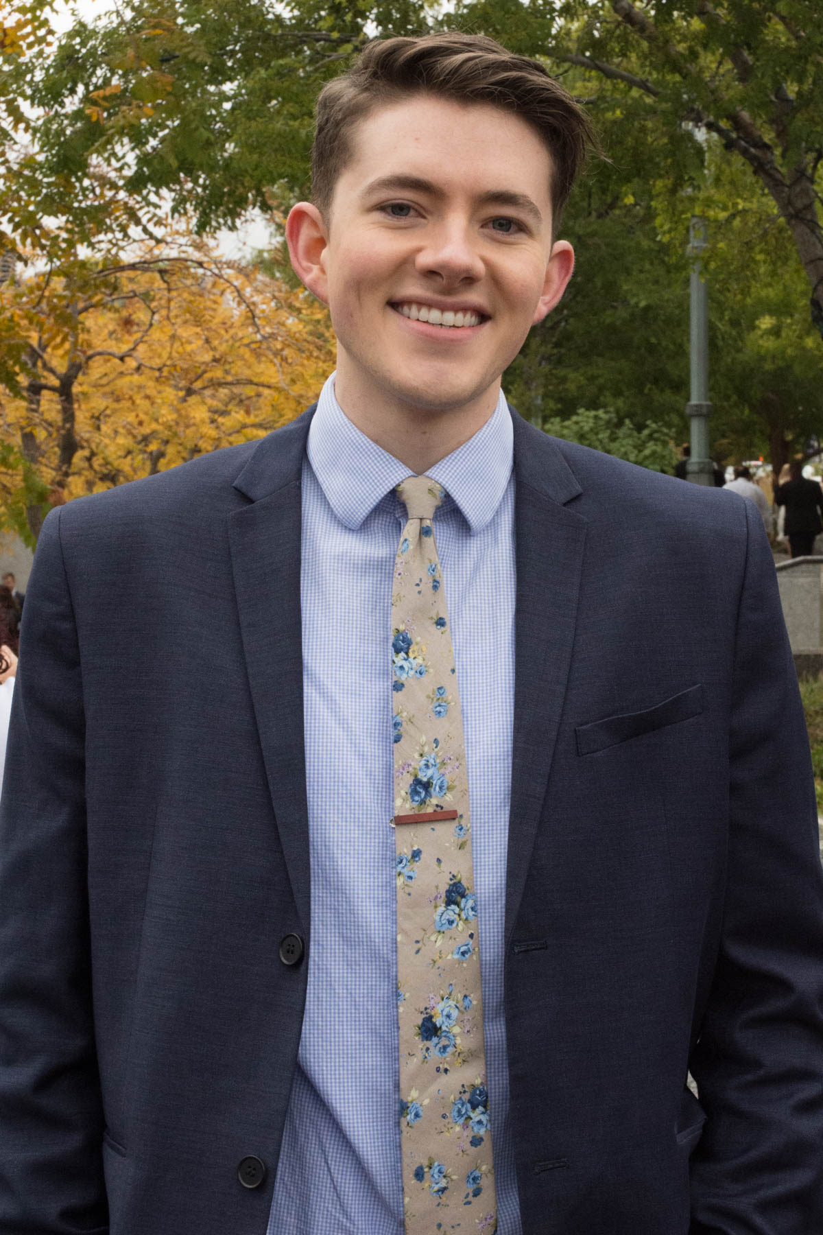"""""""After coming to conference or just listening to conference, in general, I always receive a lot of spiritual support, … strengthen and encouragement to do what's right. … I just need that boost every six months.""""- Joseph Garner, Utah"""