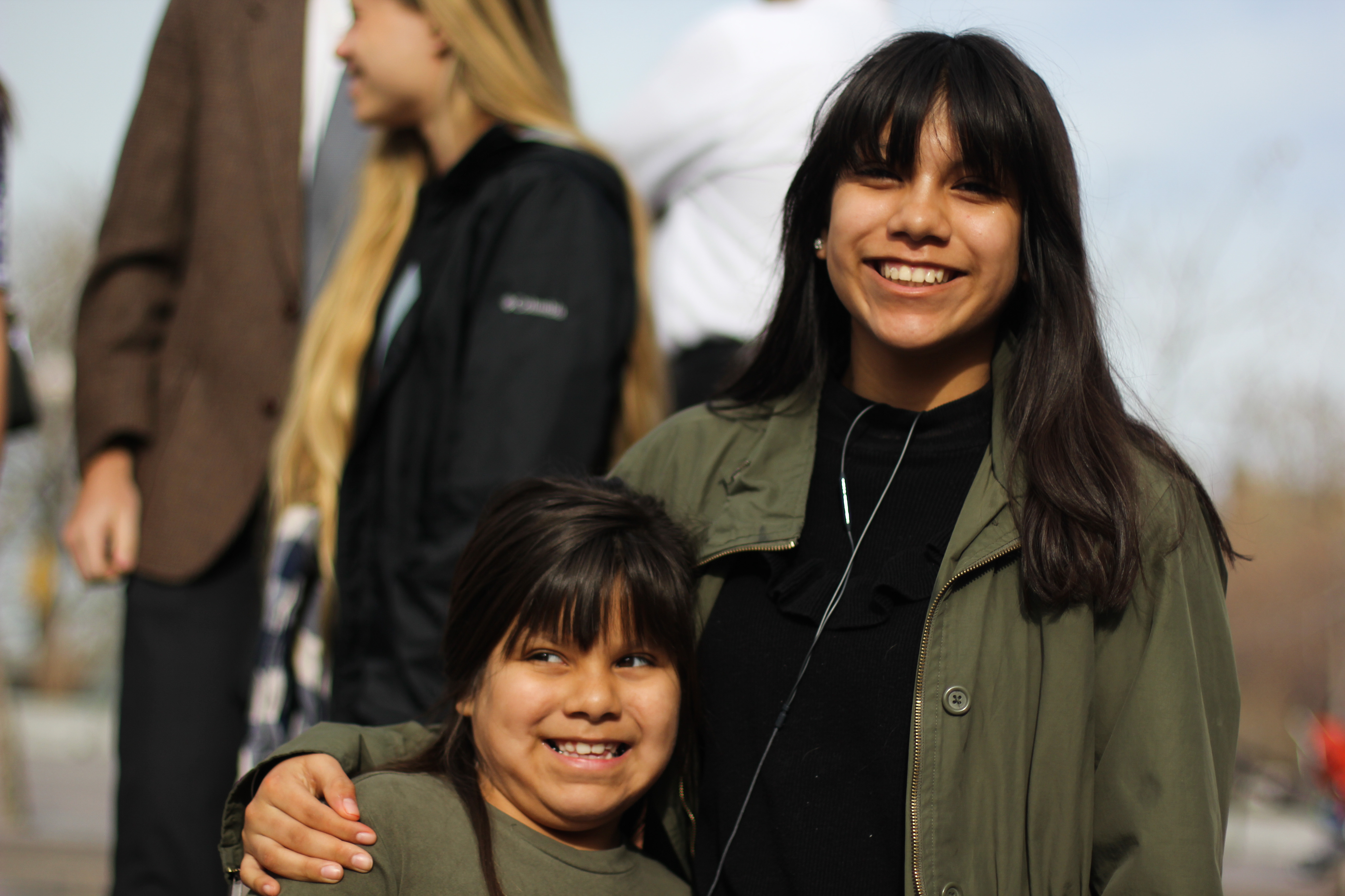 """""""I feel good being here with my little sister and mom. I'm excited to listen to the prophet in person and not just on television."""" Alexa Mendoza"""