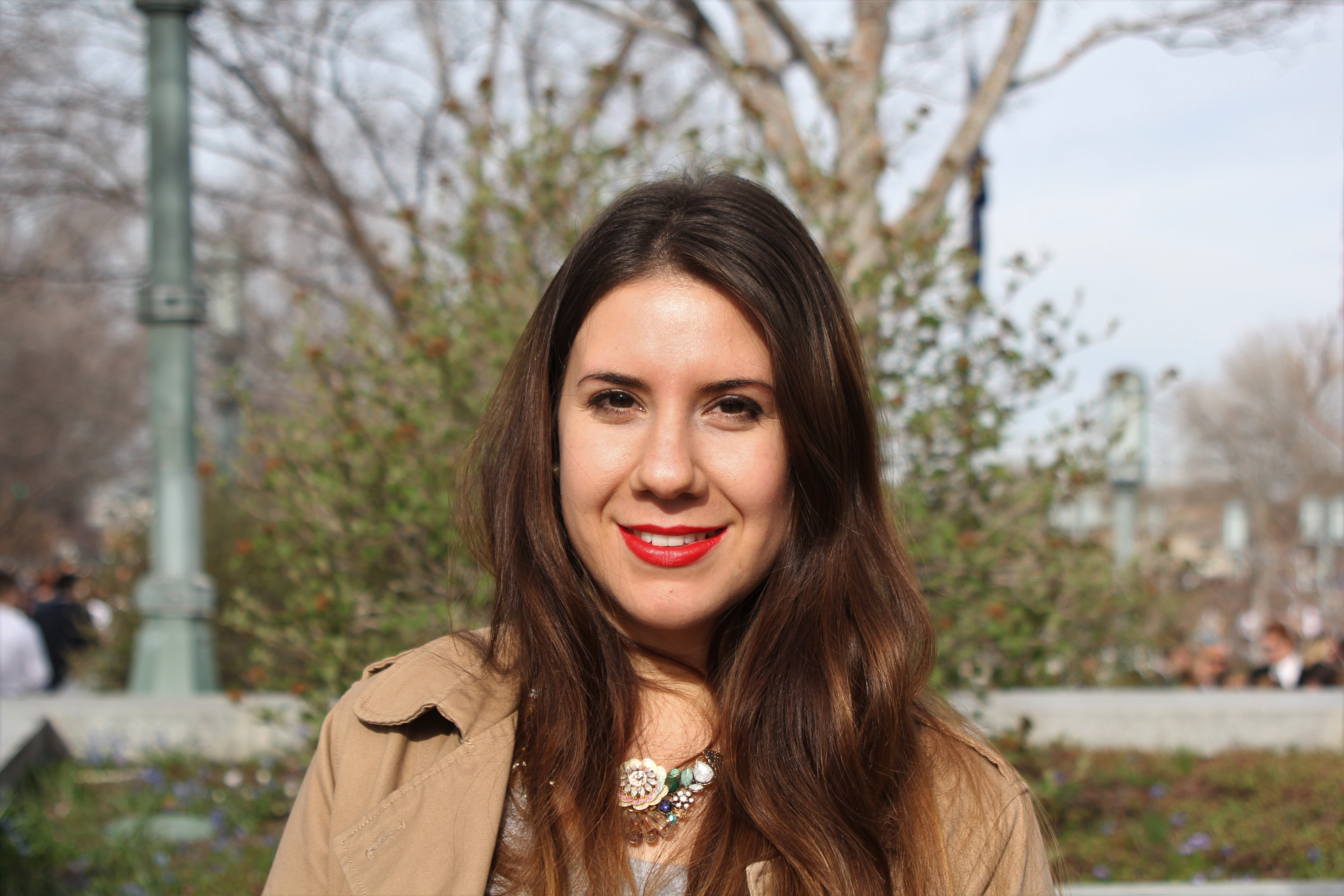 """""""There is a new president and two new apostles. It's a privilege to be here. I joined the church four years ago, a coworker introduced me to the church."""" Leticia Leyes- Uruguay"""