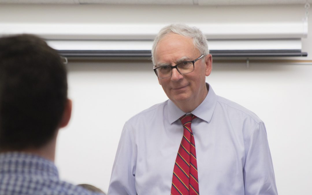 WATCH: Retiring English professor reflects on his teaching career
