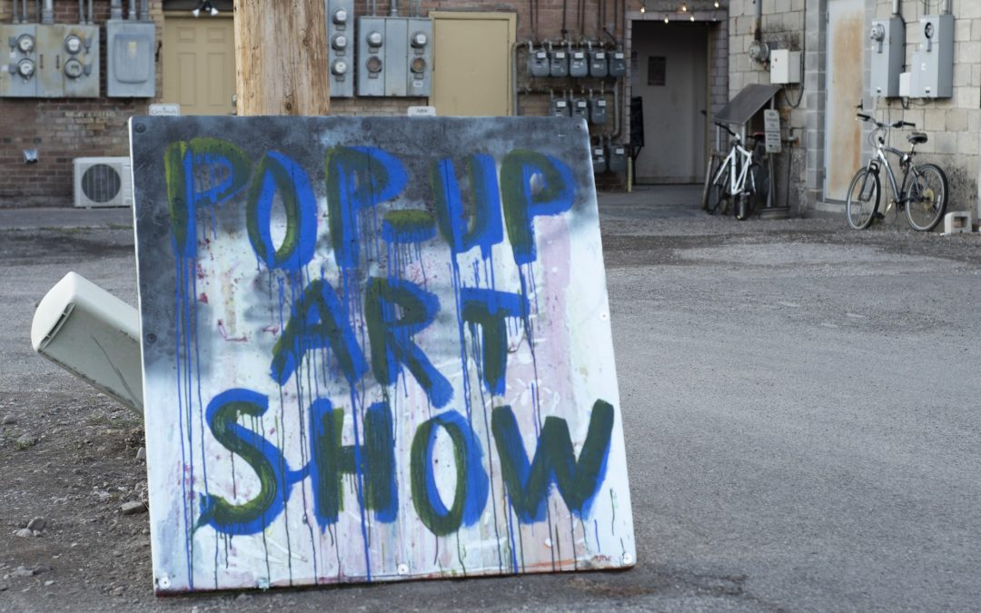 Art students host pop-up show