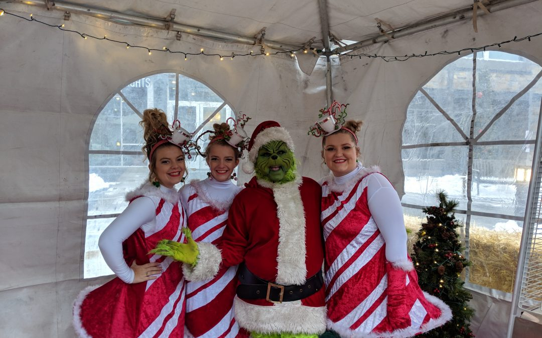 The Grinch tries to steal Christmas at Hemming Village