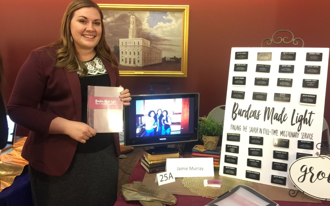Burdens made light: sharing her testimony at Senior Showcase