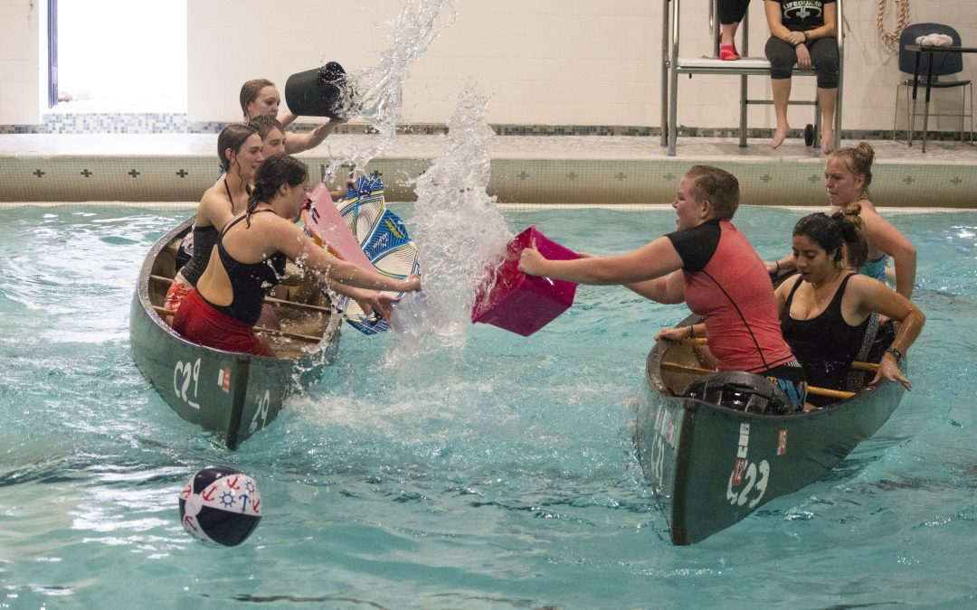 WATCH: Battleship Tournament, Canoes sunk in Hart swimming pool