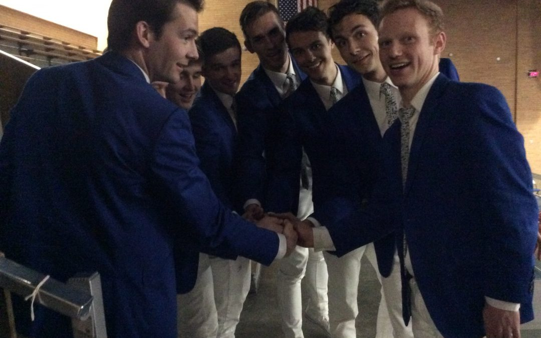 Blue suits on the loose: what you missed from the Vocal Point concert