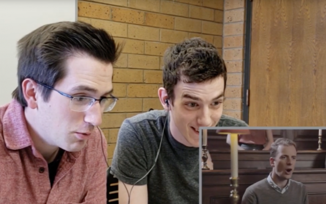 Watch music majors' reactions to VOCES8