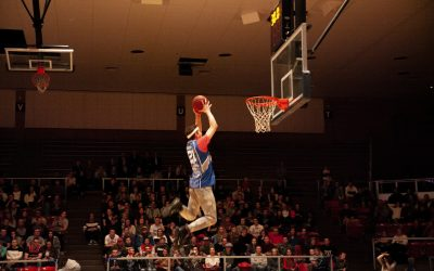 WATCH: Winner of dunk contest is dunking more than just basketballs