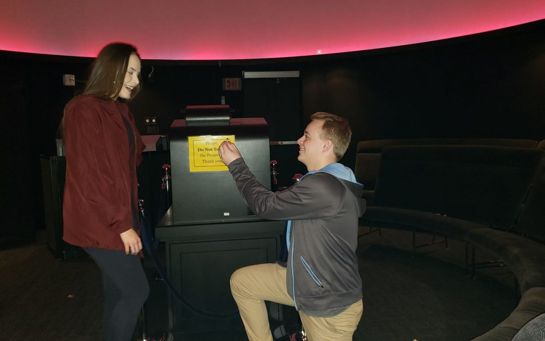Be the first to propose in the planetarium
