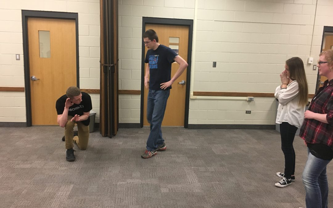 Students sing, stomp and act at Improv Comedy Workshop
