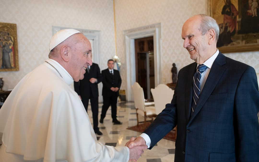 President Nelson and Pope Francis meet in Rome