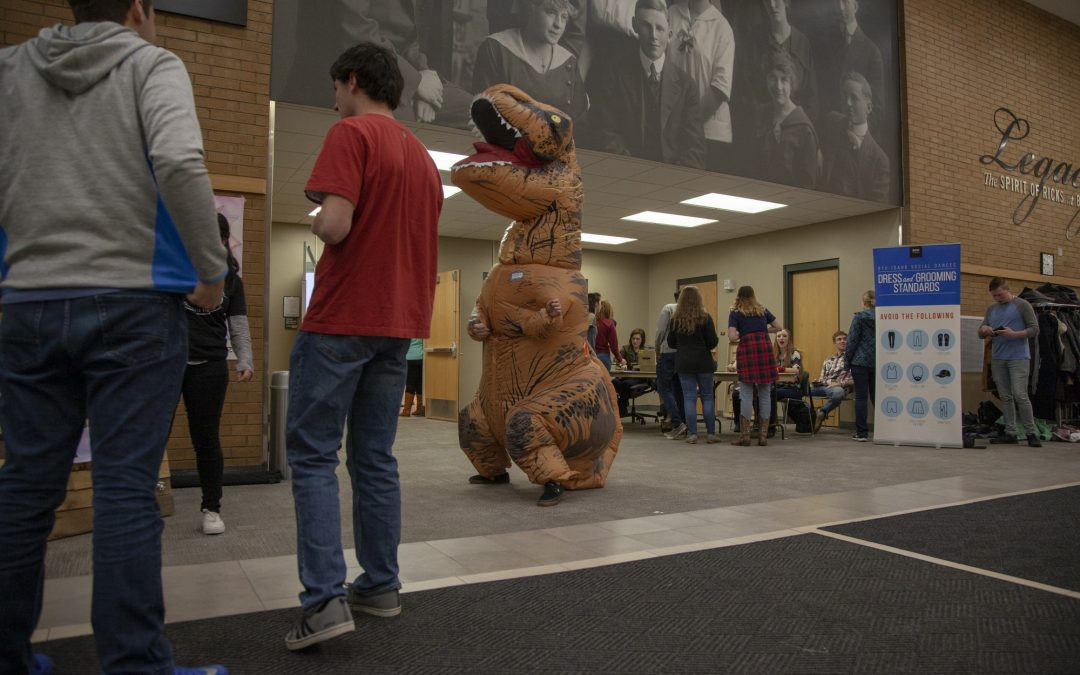 If you chance to meet a dinosaur, wear your cowboy boots