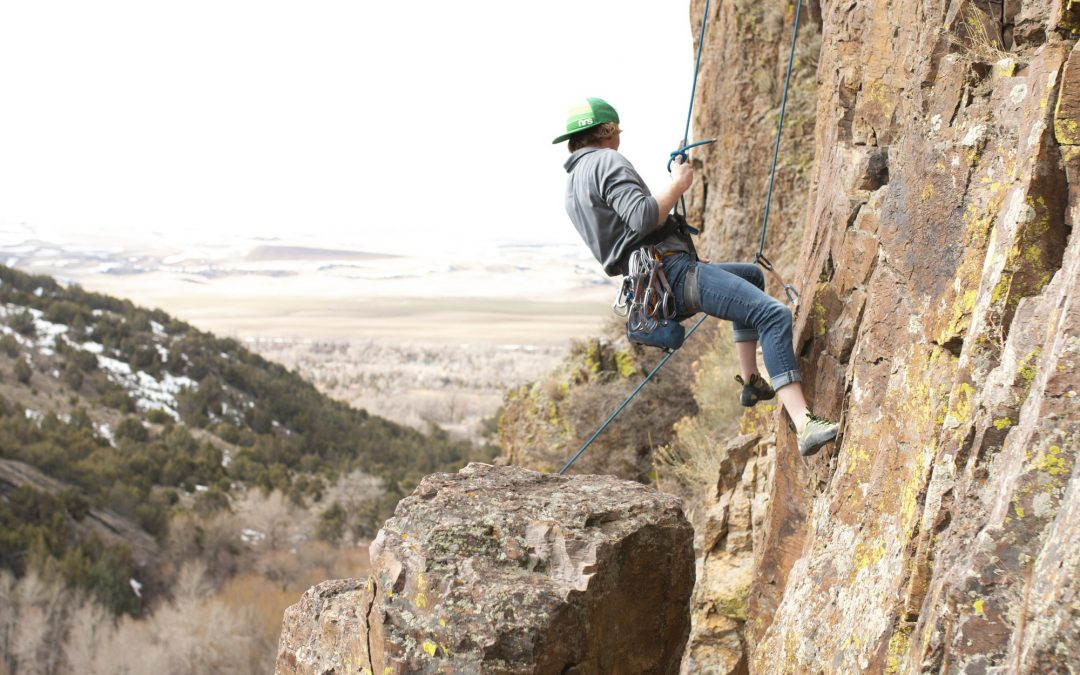 PHOTO GALLERY: BYU-I student climbs Paramount Rock, 'looks good doing it'
