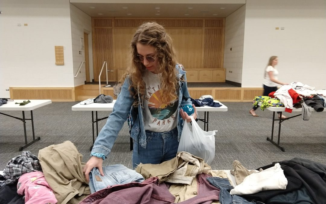Service activity donates clothes to those in need