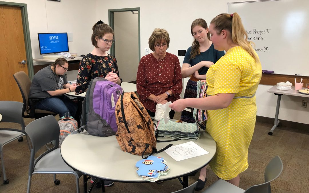 BYU-Idaho students engaged with Days for Girls