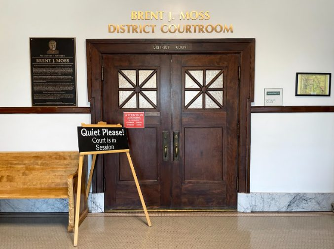 Brent J. Moss District Court room in the Madison County courthouse.