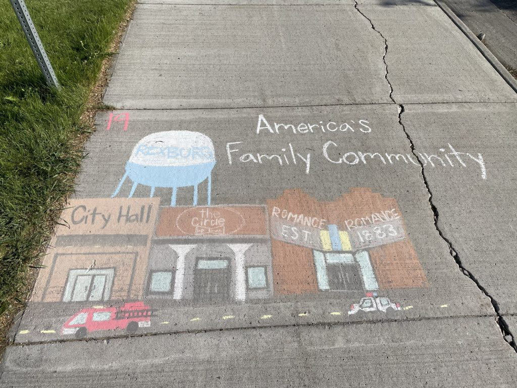 """The winner of the teen&squot;s section of the """"chalk a block"""" competition featured a drawing of Main street."""