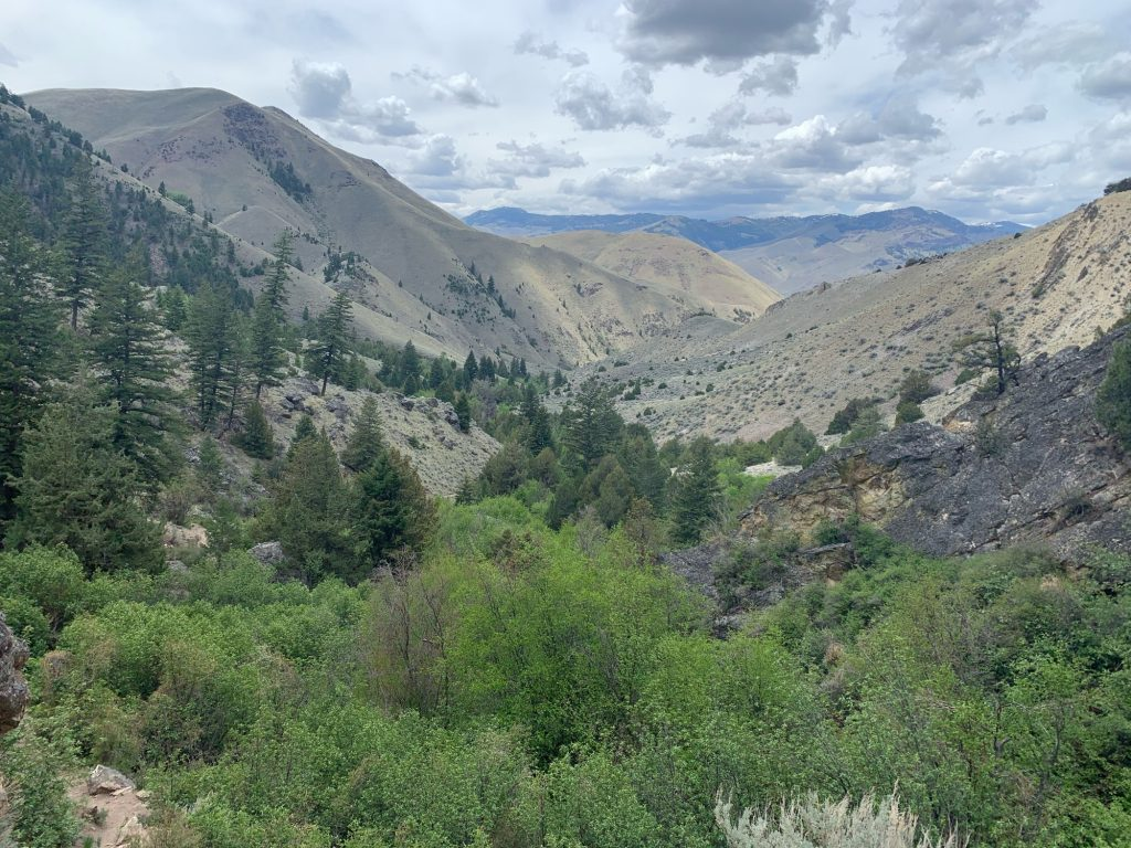 View on hike up to hot springs