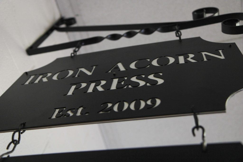 The entrance to the Iron Acorn Press.