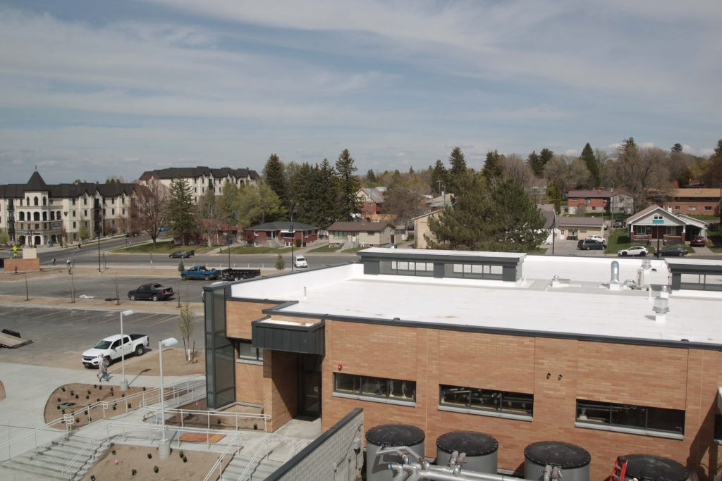 Outside overview of the new building.