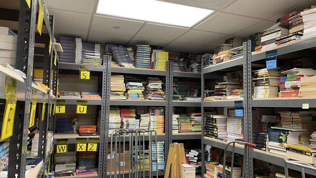 A lot of additionals materials are hidden in the storage of the University Store