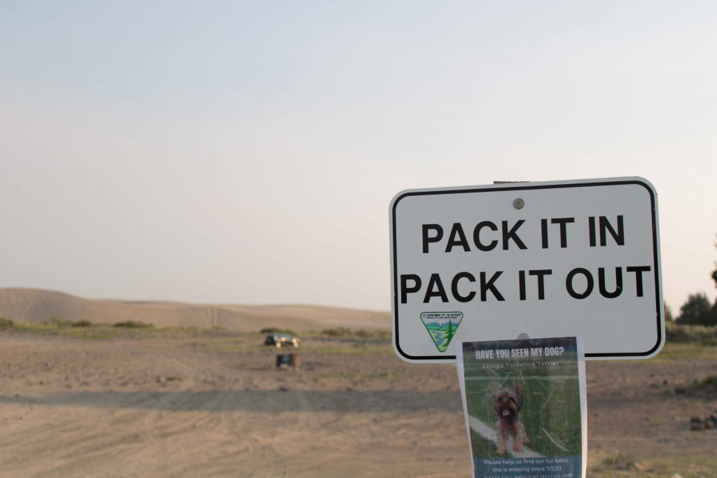 Signs like this aim to prevent litter and pollution from ruining protected areas.