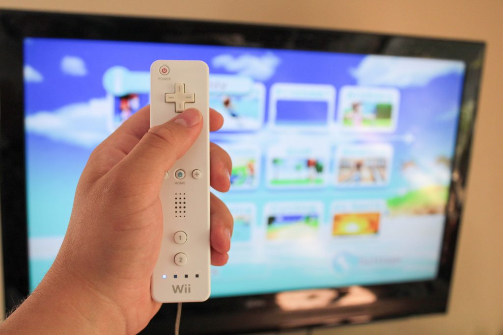 Party games like Wii Resort could be played with up to 4 people with extra controllers.