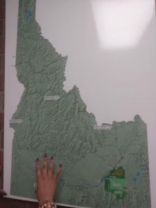 A map of the original lands of the Shoshone-Bannock Tribes.