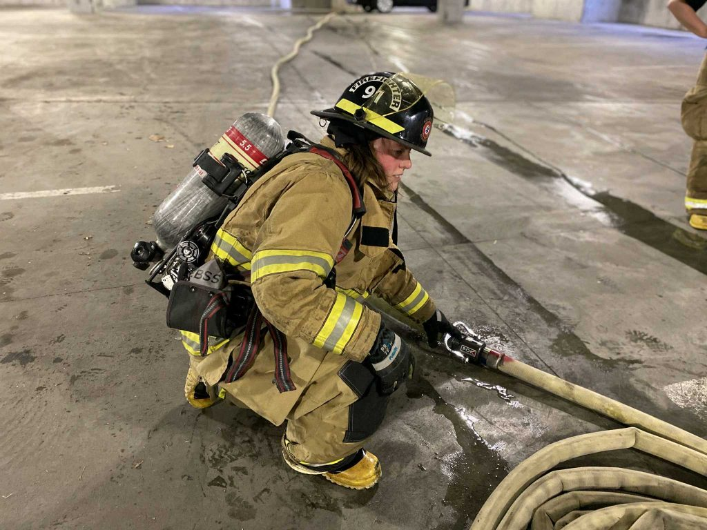 Heather Halverson on the job. Image Credit: Madison County Fire Department