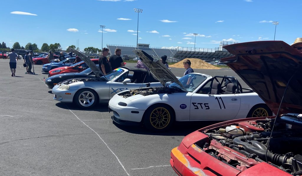 Cars lined up for show