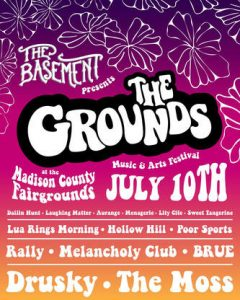 Flyer for The Grounds concert. Art by Naomi Manzanares