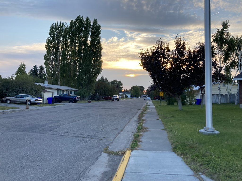 A street in district 51, the area of Rexburg focused on in the proposal.