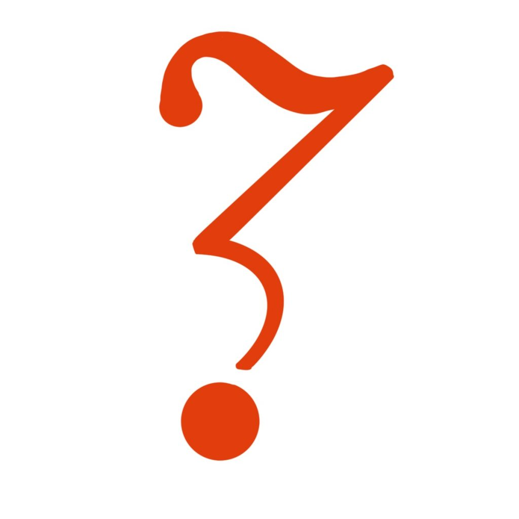 """A doubt point, which looks like an exclamation point mixed with the letter """"z."""""""