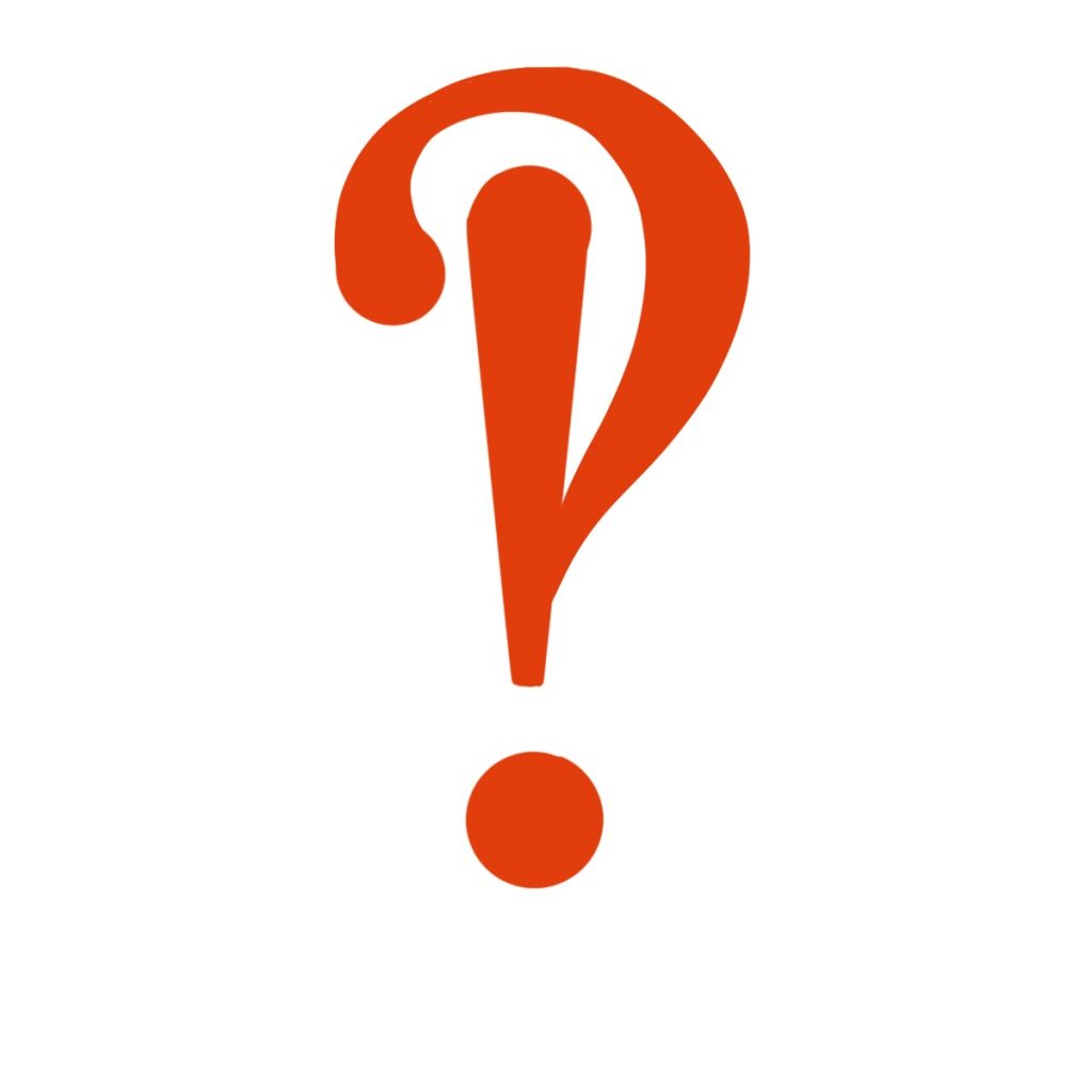 An interrobang, which looks like an exclamation mark inside of a question mark.