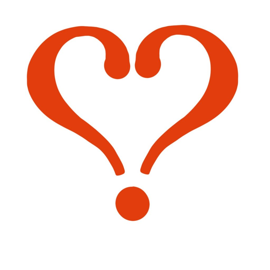 A love point, which looks like two question marks in the form of a heart.
